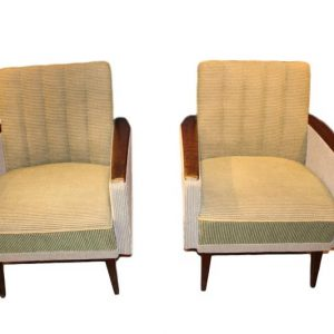 Paire de fauteuils des années  clipped rev