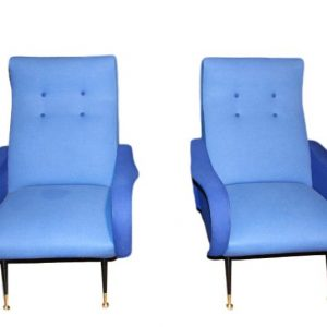 paire de fauteuils design italiensde style Marco Zanuso clipped rev