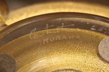 Grand vase en verre de Murano doré VA-1035 15