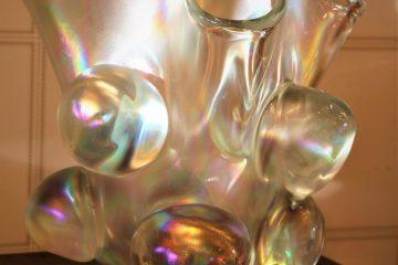 Grand vase en verre de Murano irisé VA-1513 2