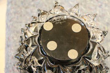 Vase en verre de Murano noir rostrato VA-6231 10