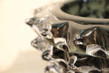 Vase noir en verre de Murano rostrato VA-6321 2
