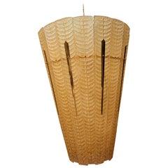 Grande lanterne et verre de Murano doré