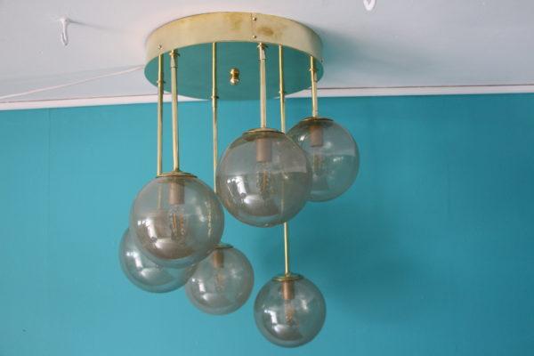 Lustre design mid-century verre de Murano