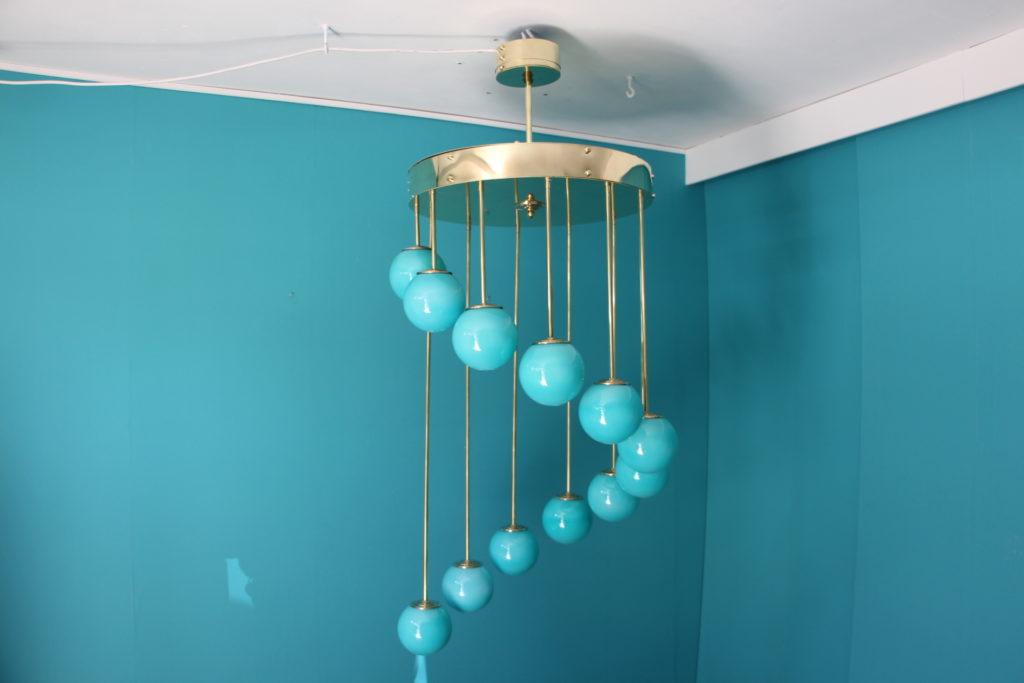 Lustre design turquoise