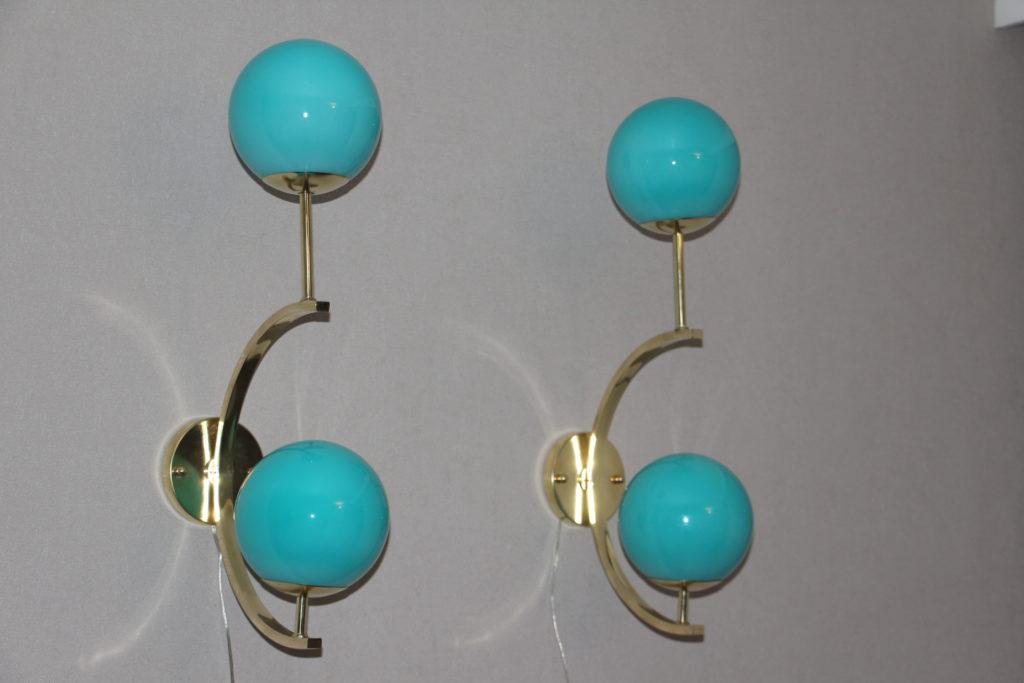 Appliques vintage turquoises