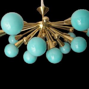 Supension turquoise spoutnik