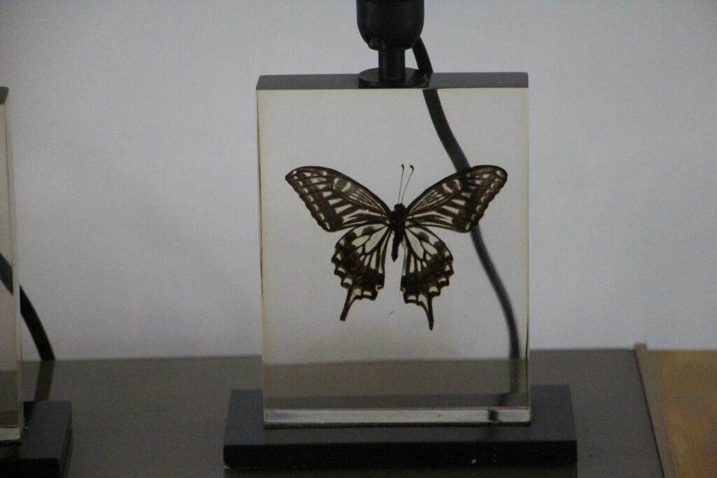 lampes vintage en resine