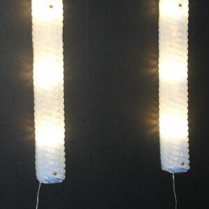 Paire d'Appliques en longueur en Verre de Murano Irisé